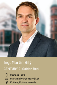 Ing. Martin Bilý, CENTURY 21 Golden Real