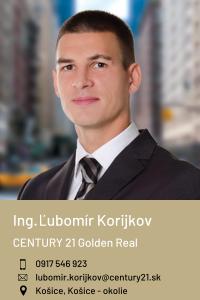 Ing. Ľubomír Korijkov, CENTURY 21 Golden Real