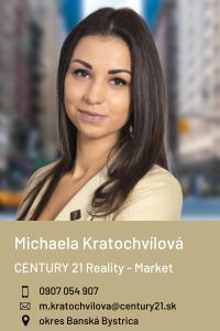 Michaela Kratochvílová, CENTURY 21 Reality - Market