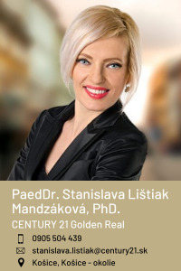 PaedDr. Stanislava Lištiak Mandzáková, PhD., CENTURY 21 Golden Real