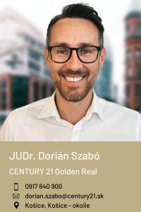 JUDr. Dorián Szabó, CENTURY 21 Golden Real