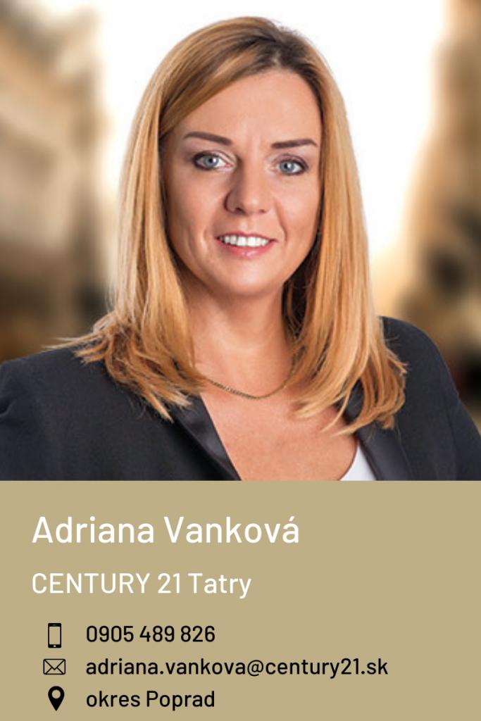 Adriana Vanková, CENTURY 21 Tatry